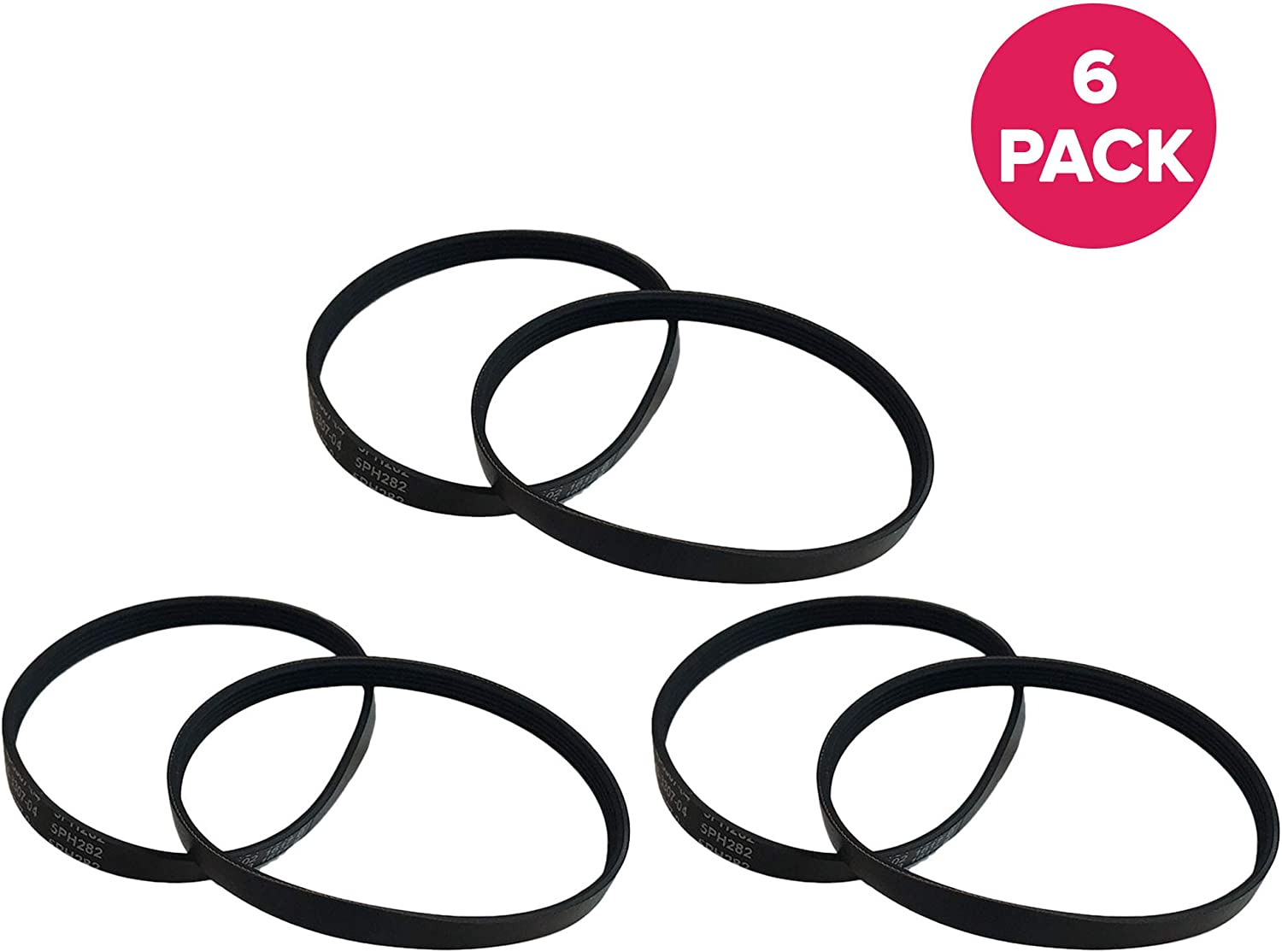 Crucial Vacuum Replacement Vacuum Belt - Compatible with Kenmore Part # 20-5218 - Fits Kenmore CB3, CB-3, Powermate Models - Bulk (6 Pack)