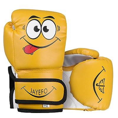 jayefo kids boxing gloves 4 6 OZ cartoon youth boys girls mma punching bag kick
