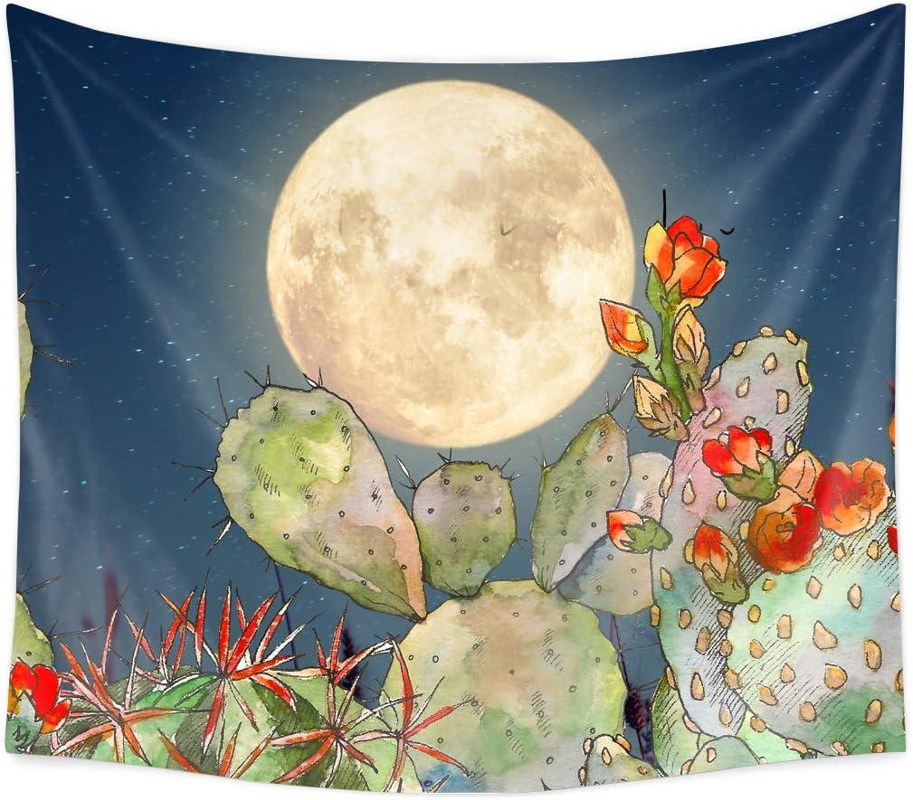 Tropical Watercolor Cactus Succulent Printed Wall HangingTapestry Home Art Decor