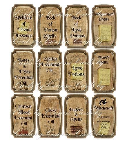 amazon com halloween witchcraft spells potion 12 laminated glossy