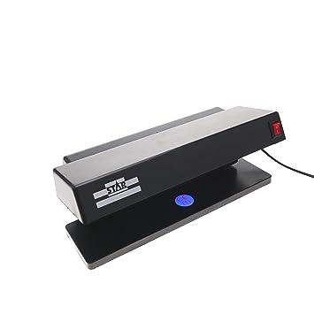 Detector de billetes falsos UV con 2 tubos de 6W 280x122x110mm (MM84): Amazon.es: Oficina y papelería