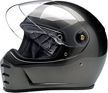 Biltwell Lane divisor sólido Full-Face casco de moto – BRONCE metálico
