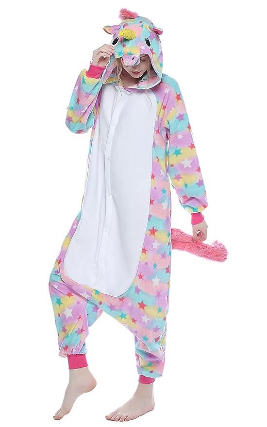 Amazon.com: NEWCOSPLAY - Traje de dormir de unicornio para ...