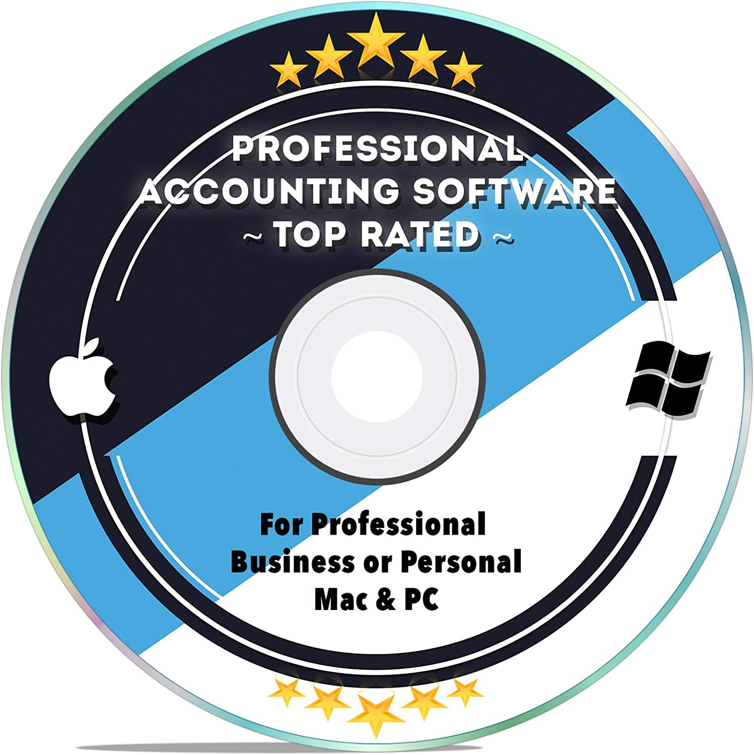 Accounting Bookkeeping Tax Preparation Software for Small Business, Personal, Home 2018 2019 Simple for Windows PC & MAC Computers CD Disk 71KLEOp6cyL