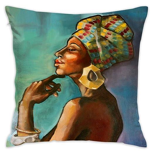 shizh Art Africa Woman Funda de Almohada Decorativa con ...