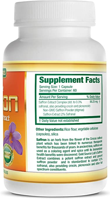 Amazon Com Saffron Extract Supplement 88 25 Mg Capsules With