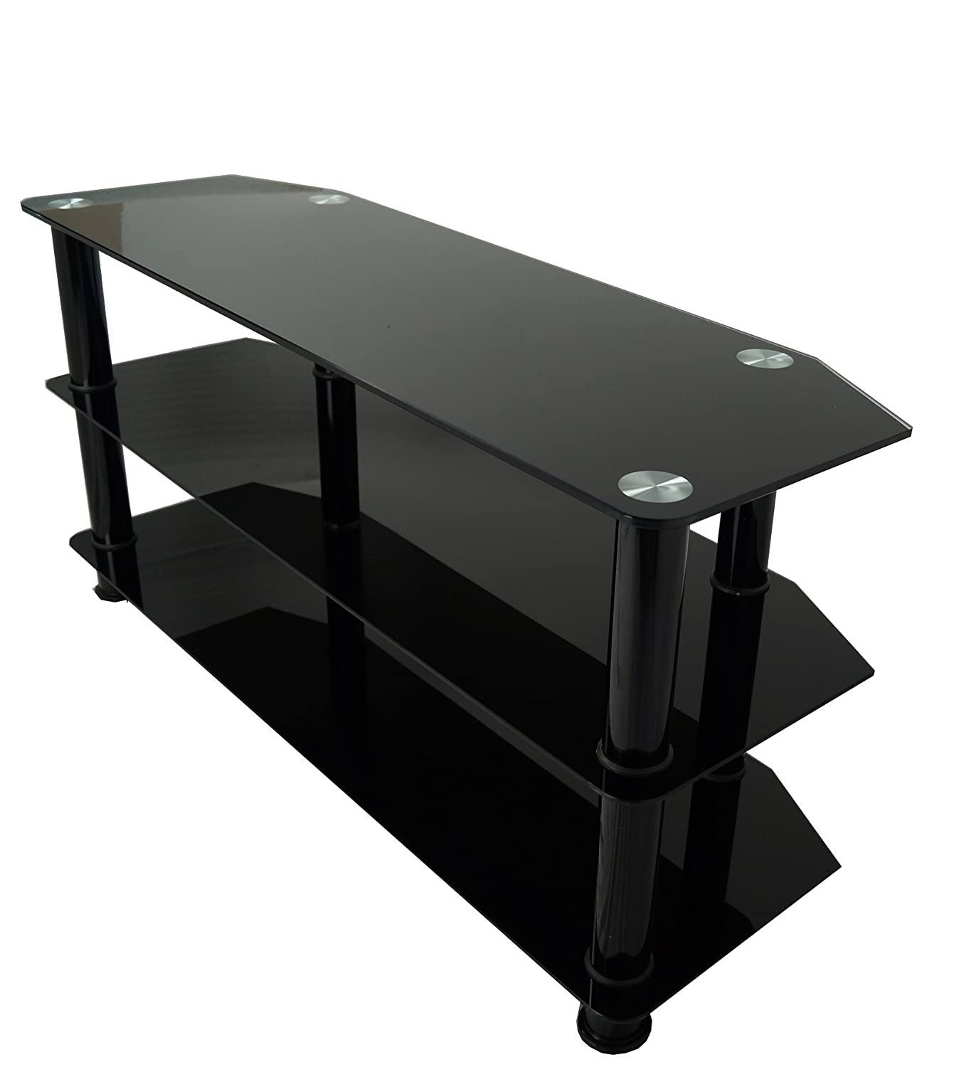 mountright bgtb black glass tv stand for  up to  amazonco  - mountright bgtb black glass tv stand for  up to  amazoncoukelectronics