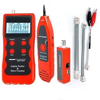 Red Ethernet Cable Tester 5E 6E LAN Cable coaxial Teléfono USB BNC ...