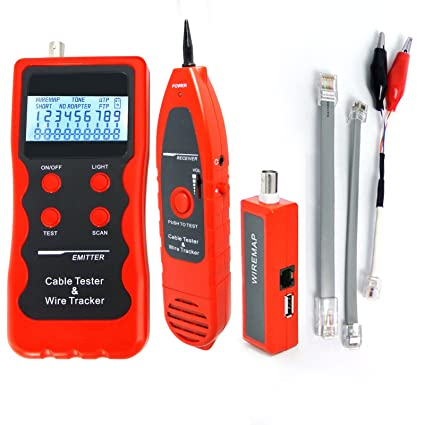 Digital 5E 6E LAN Cable Telephone Wire Coaxial BNC USB and 1394 Line Cable Tester