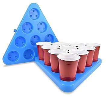 ed8b8627 GoPong N-Ice Rack Freezable Beer Pong Rack Set, Includes 2-Racks, 3 ...