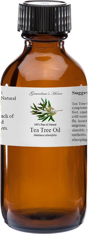 Tea Tree Essential Oil - 2 fl oz -100% Pure and Natural - Therapeutic Grade - Grandma's Home