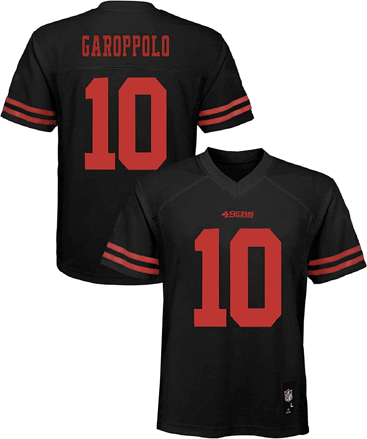 Mens Embroidery Rugby Jerseys Sport T-Shirt Training Top Quick Drying Shirt,Red,S L-SLWI San Francisco 49Ers 10#Jimmy Garoppolo