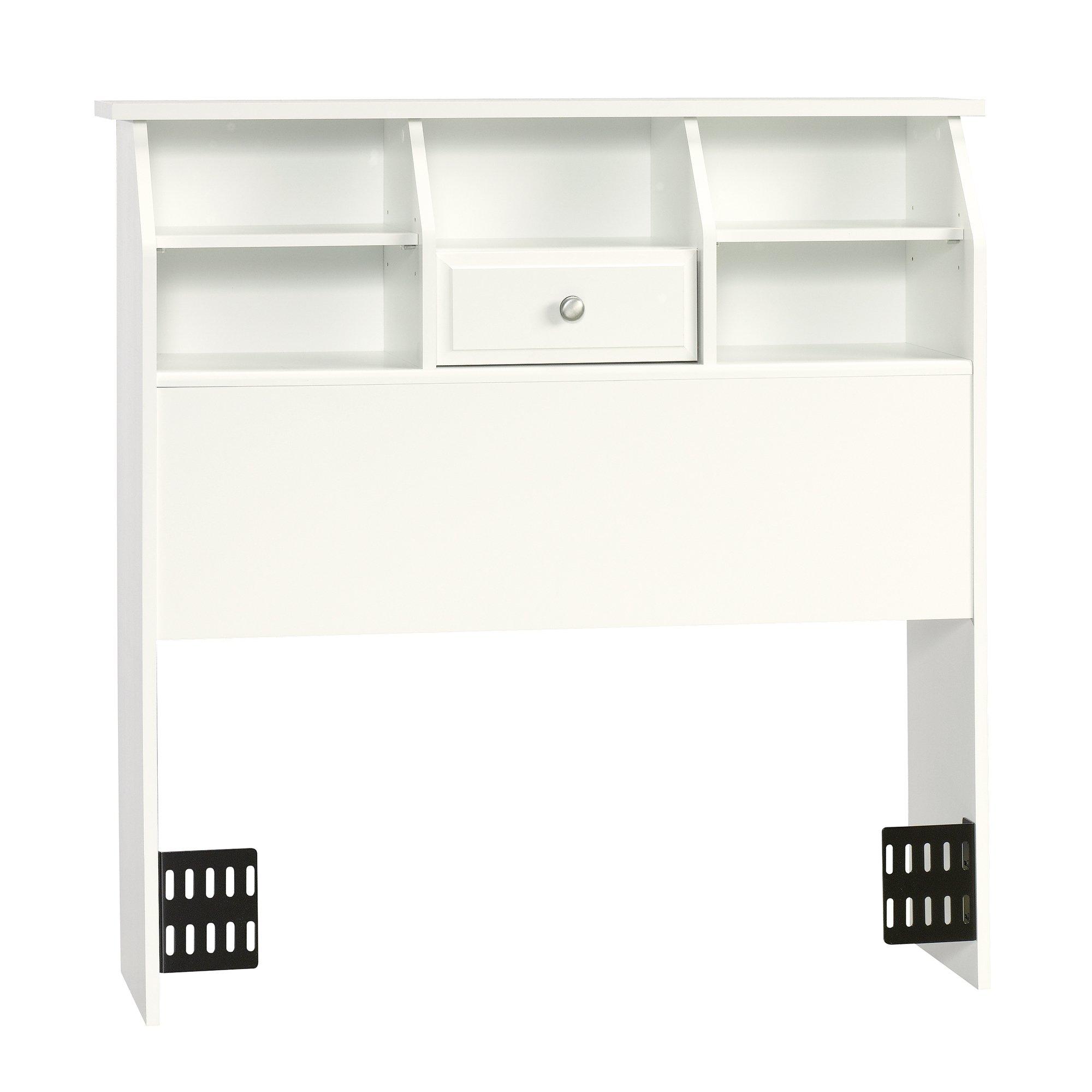 Sauder Shoal Creek Bookcase Headboard with Soft White Finish, Twin