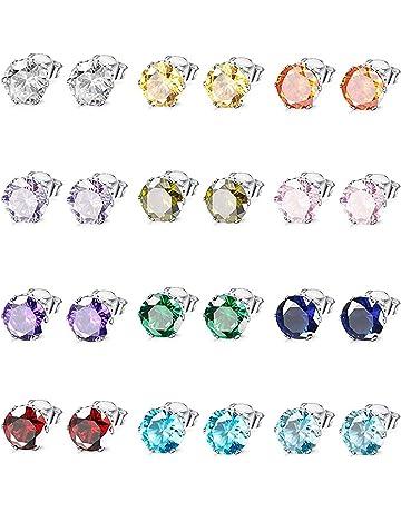 36 Paare Mode Punkte Stoff Herz Runde Knopfform Ohrstecker Ohrringe Set