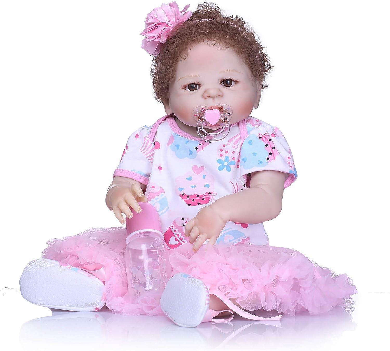 完全なシリコーンの赤ん坊のおもちゃ洗濯できる加重された現実的な生まれ変わった赤ん坊の人形のギフトセットの年齢3+のための安全
