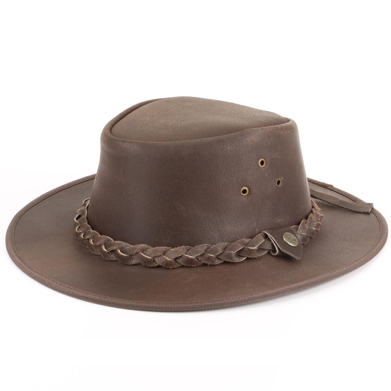 Hawkins Genuine Leather Weathered Australian Cowboy Bush Hat