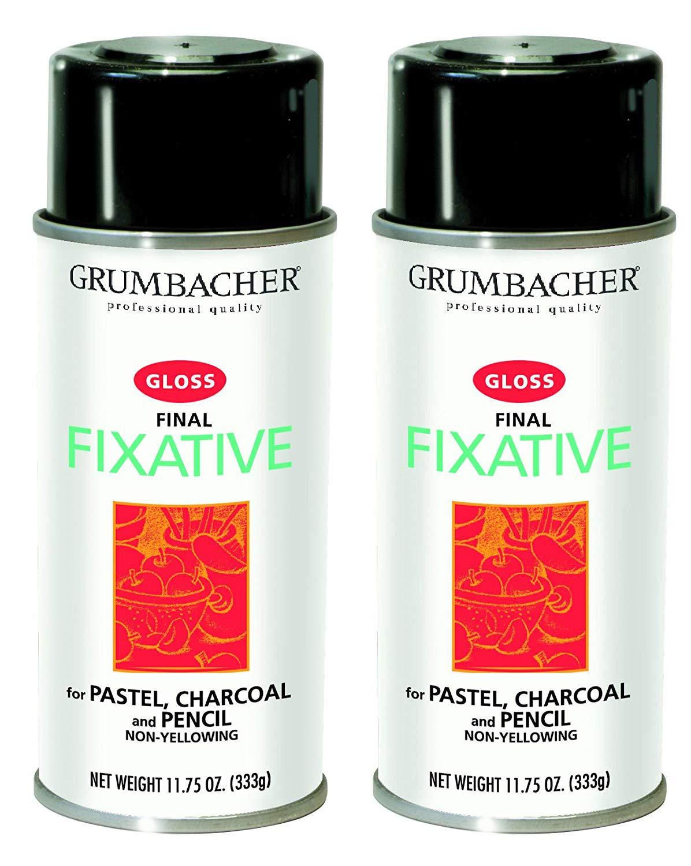 Grumbacher Final Fixative Gloss Spray, 11-3/4-Ounce Can, 543 (Тwo Рack) by GRUMBACHER