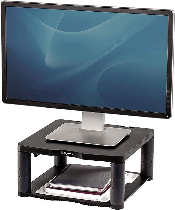 Fellowes Premium - Soporte Elevador para Monitor de Ordenador, Ajustable en Altura, para monitores con Peso máximo de 36 kg, Color Grafito: Fellowes: Amazon.es: Informática