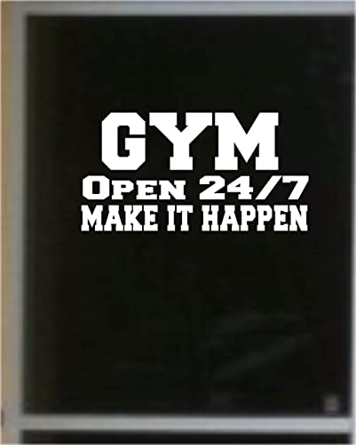 Amazon Com Gym Open 24 7 Make It Happen Quotes Motivational Quote Sports Gym Fitness Home Decor Art Handmade