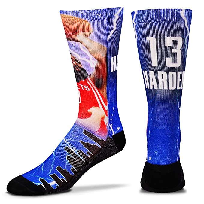 bdfaeb50ad00 For Bare Feet James Harden Houston Rockets Crew Socks 10-13  Amazon.in   Clothing   Accessories