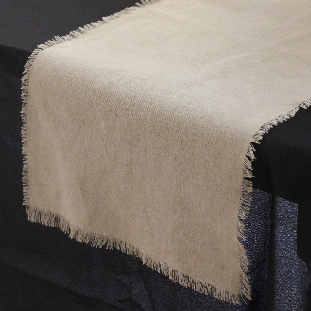 Amazon.com: Linen Table Runner With Fringed Edge, 12.5 Inch X 120 Inch:  Home U0026 Kitchen