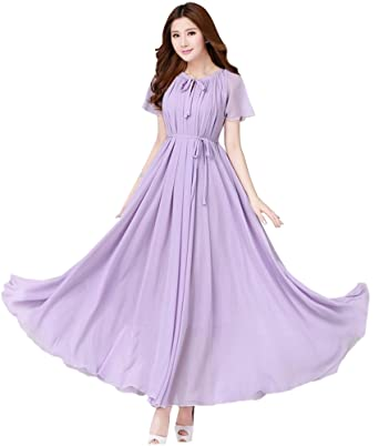 Purple Maxi Dresses for a Beach Wedding