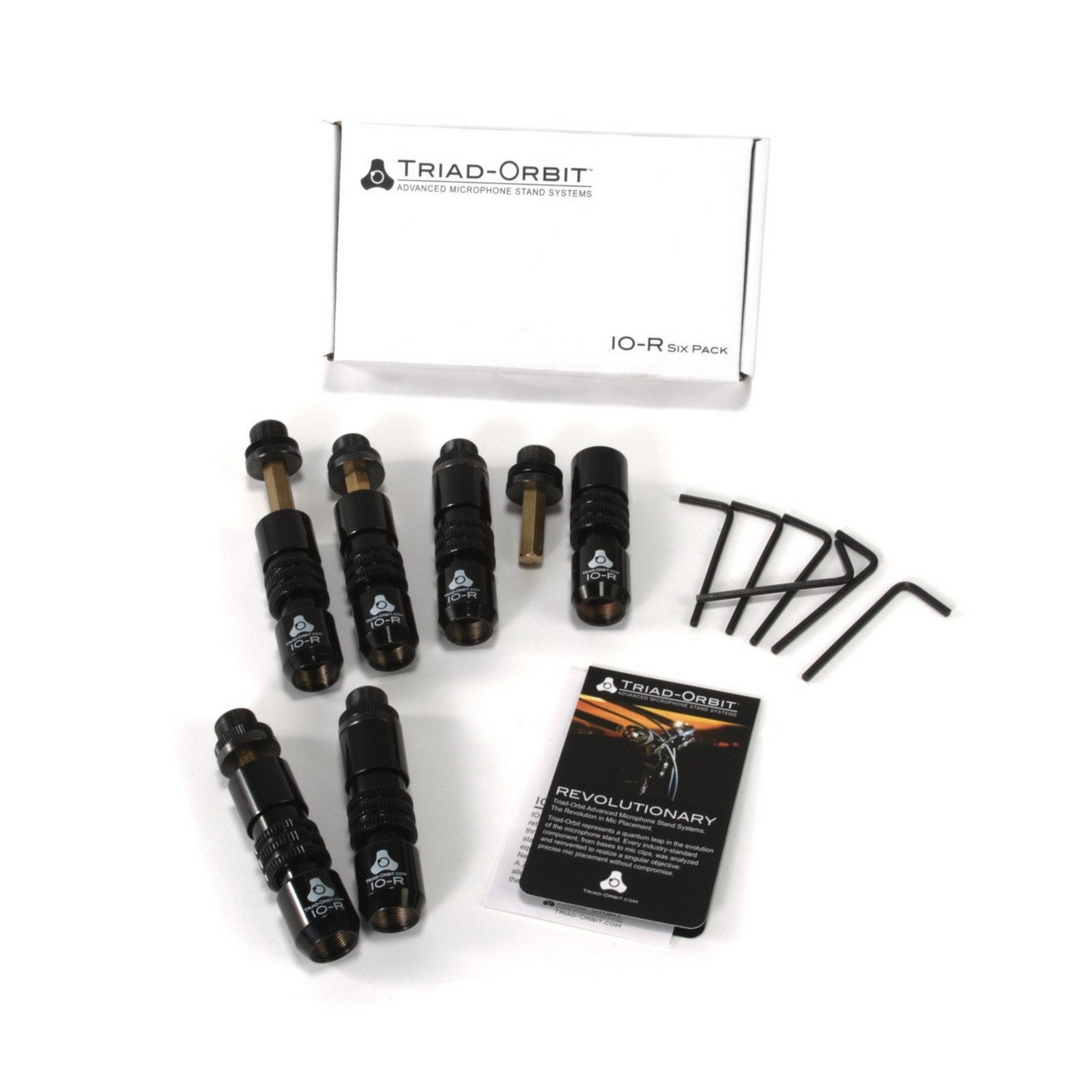 Triad Orbit IO-R/6 | 6 Pack Quick Change Couplers for Microphone Boom Poles by Triad-Orbit