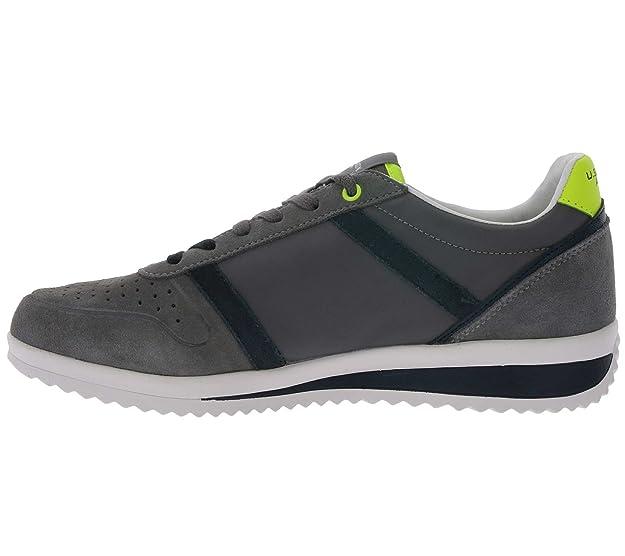 U.S. Polo Assn. FLOYD4045S8/LT1 Sneakers Hombre Dk.Grey 45: Amazon ...