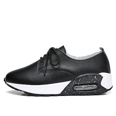 5c28b0eb194 Amazon.com | Feilongzaitianba Women Genuine Leather Shoes Casual ...