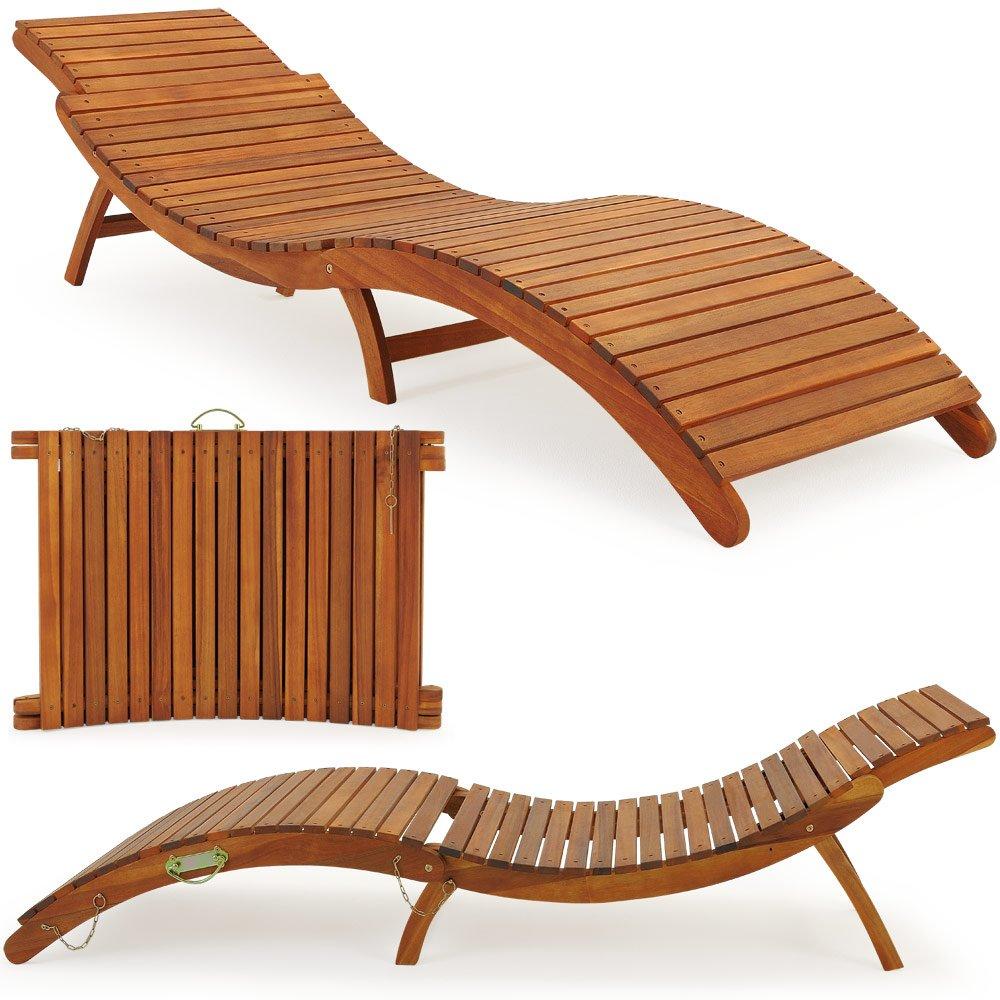 Chaise longue - Pliable avec appuie-tÊte rÉglable - Bain de soleil - Jardin