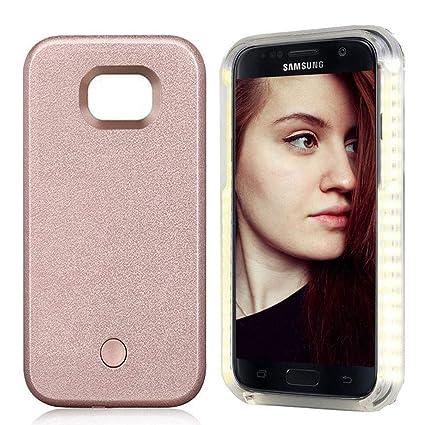 new product c206c 58be0 Amazon.com: FULLOPTO Galaxy S7 Edge Led Light Phone Case, Selfie LED ...