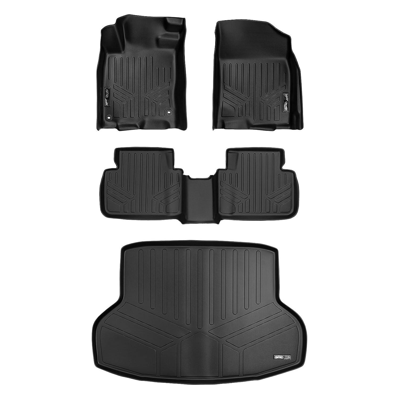 SMARTLINER Custom Fit Floor Mats and Cargo Liner Set Black for 2016-2019 Honda Civic Sedan