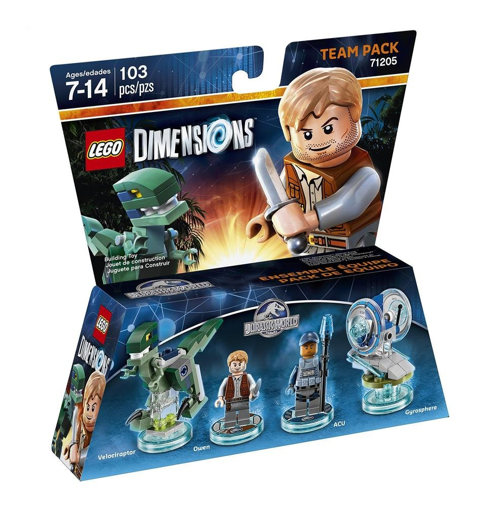 Amazon.com: LEGO Dimensions Jurassic World Team Pack (71205 ...
