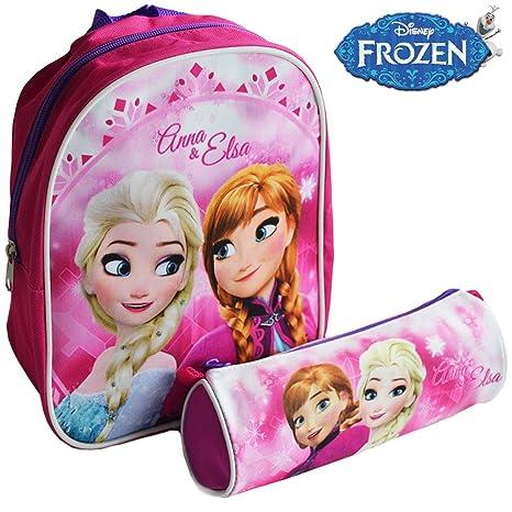 l'ultimo d32a2 92361 Zaino Zainetto Disney Frozen Asilo con Astuccio Tombolino Kit Frozen Anna e  Elsa per Bambini Scuola