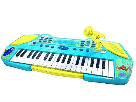 Dory Disney Teclado con Micrófono, Instrumento Piano Infantil apartir de 3 años (Lexibook K710DO