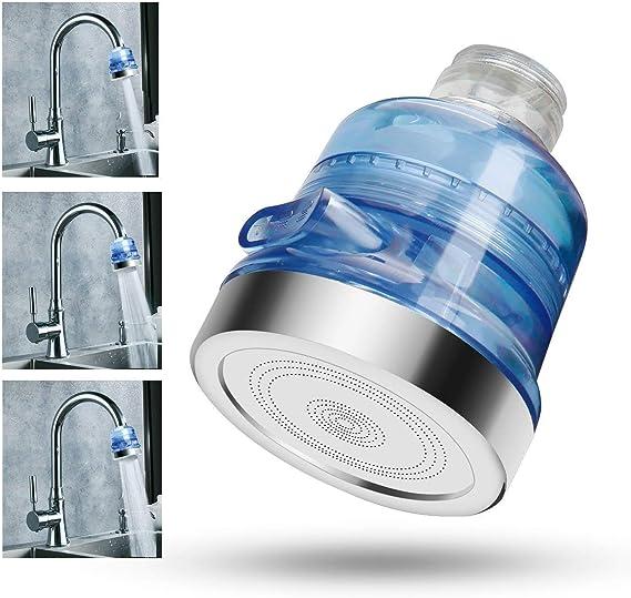 efluky Alcachofa de ducha de ahorro iónico, con filtro de cloro y ...