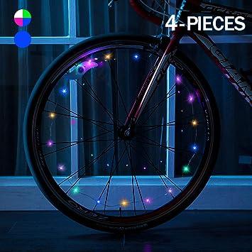 Weewooday - Tira de Luces LED para Rueda de Bicicleta (4 Unidades ...