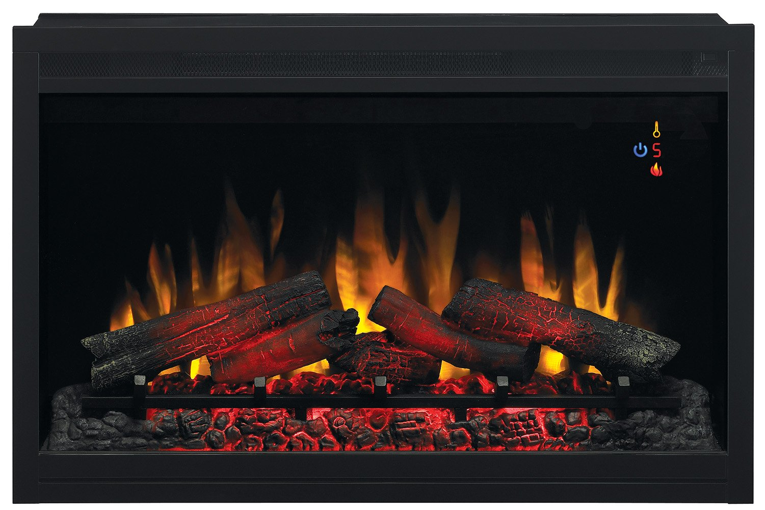 ClassicFlame 36EB110-GRT 36'' Traditional Built-in Electric Fireplace Insert, 120 volt
