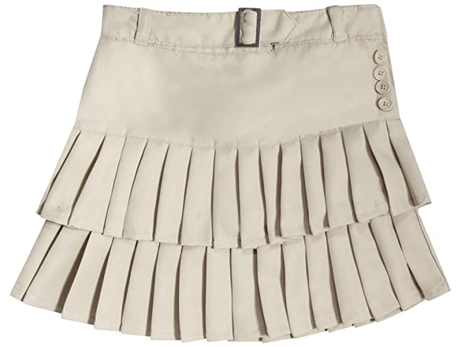 e6ed00fb7d Beverly Hills Polo Club Girls School Uniform Belted Low Pleat Scooter,  Khaki, Size 14