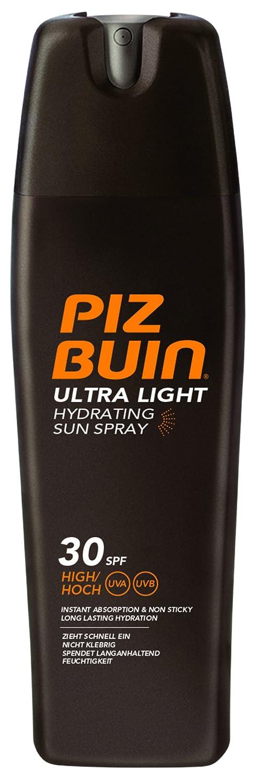 PIZ BUIN Ultra Light Hydrating Sun Spray LSF 30 – Hoher Schutz – Feuchtigkeitsspendendes, schnell einziehendes Sonnenspray – Sonnenschutz vor UVA & UVB Strahlen – Klebt nicht – 200ml 018035