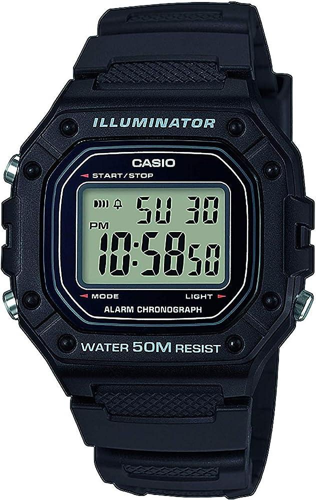 Casio Reloj Digital para Hombre de Cuarzo con Correa en Resina W ...