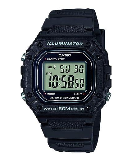 Casio Reloj Digital para Hombre de Cuarzo con Correa en Resina W-218H-1AVEF: Amazon.es: Relojes