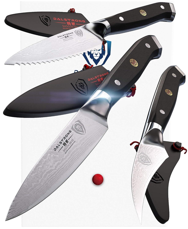 "DALSTRONG - Shogun Series 3pc Paring Knife Set - Japanese AUS-10V Super Steel - 3.75"" Paring - 2.75"" Bird"