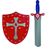 Boy Children Boys Child Red EVA Sword & Shield - Perfect Christmas Xmas Top Up, Stocking Filler Gift Games & Toys Age 3+ - One Supplied