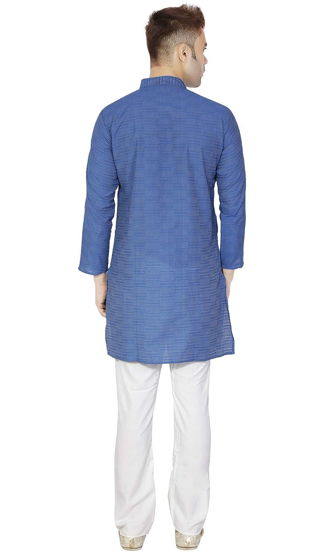 c51c82f22b Handmade Indian Kurta Pajama Traditional Long Sleeve Cotton Pyjama Dress  Clothing  Amazon.in  Clothing   Accessories