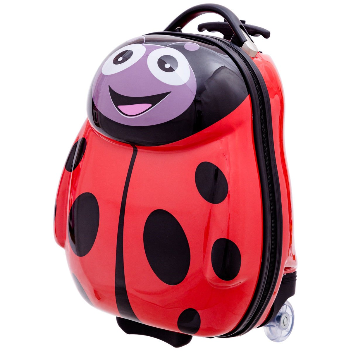 Goplus 2Pc 13'' 19'' Kids Carry On Luggage Set Travel Trolley Suitcase (Ladybug) by Goplus (Image #9)