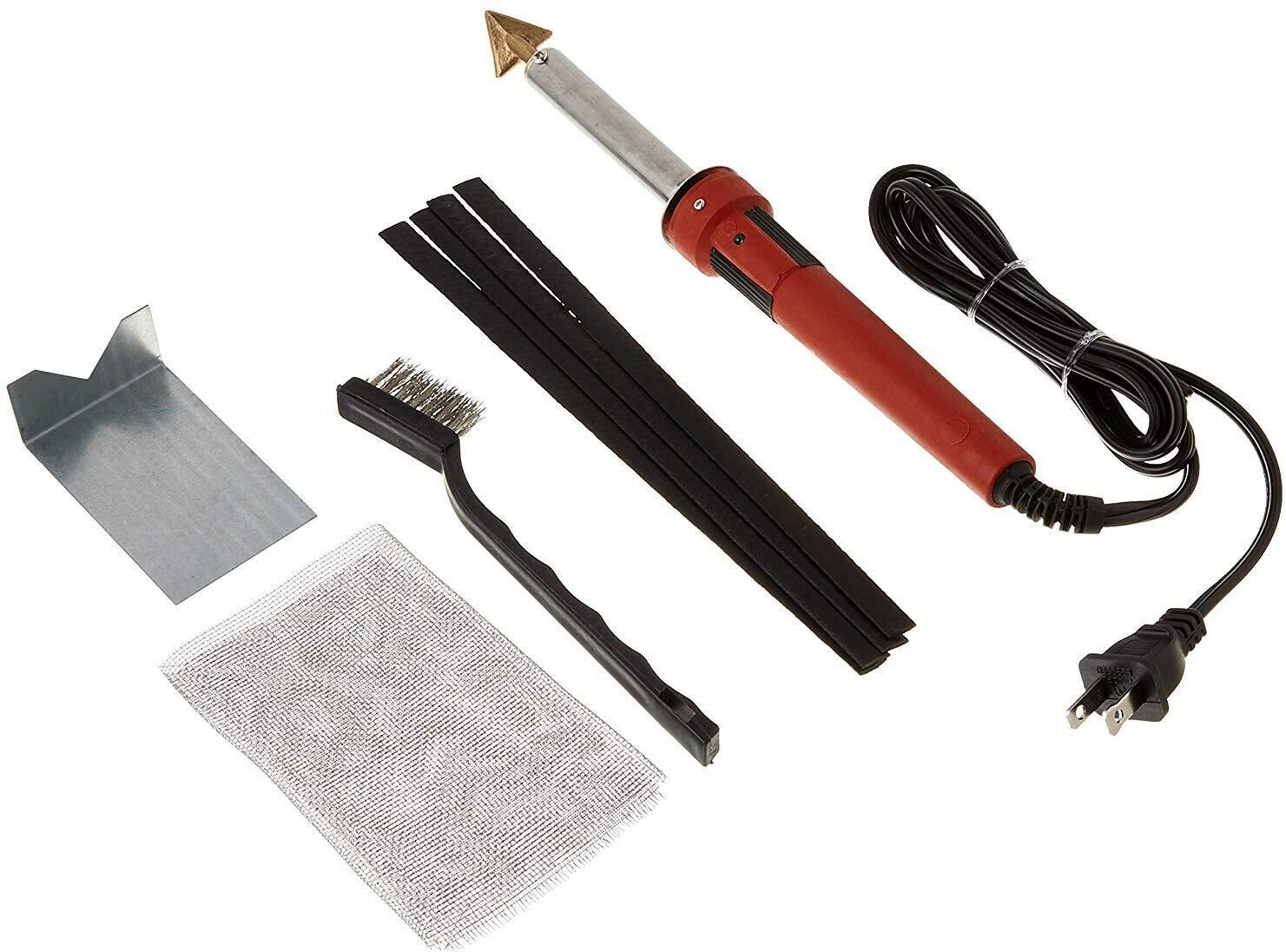 Vanda6549 Iron PLASTIC WELDING KIT TPO TEO PP Rod Mesh Auto Car Welder Repair Kit 80 Watt