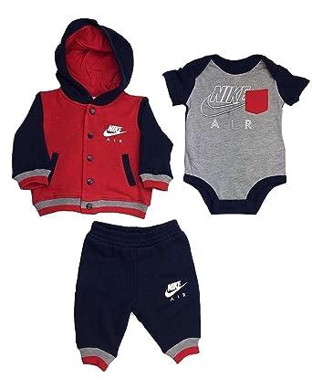 d6d561f2efe09 Bébé Nike Air Nike  unisexe  Red Navy 3-pièces ensemble- veste