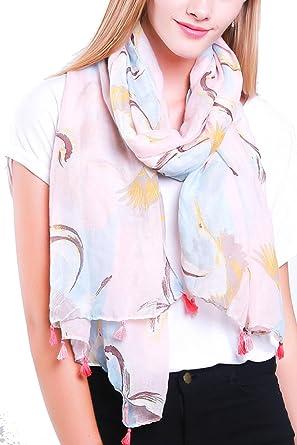 01b272c811275 Scarfs Women Bird Print, Flamingo Robin Owl Scarf, Animal Print Wraps Shawls,  Womens