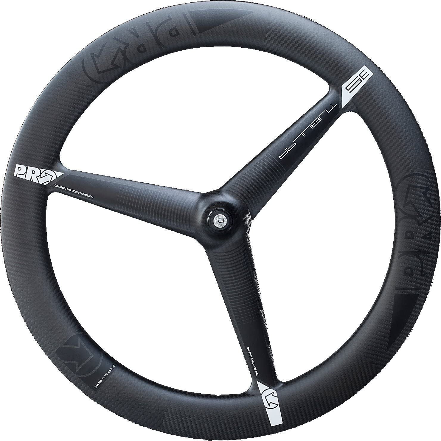 Ultegra Hub PRO 3/Spoke Front Wheel 3KCARBON Tube Tyre
